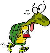 Cartoon Tired Turtle — Stock Vector