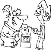 Cartoon Watercooler Talk — Stock Vector