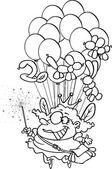 Cartoon Balloon Fairy — Stock Vector