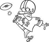 Kicker calcio cartone animato — Vettoriale Stock
