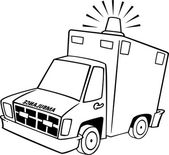 卡通救护车 — 图库矢量图片