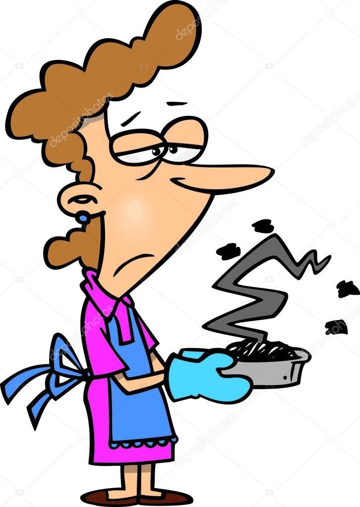 Cartoon vrouw koken stockvector ronleishman 14000336 - Koken afbeelding ...