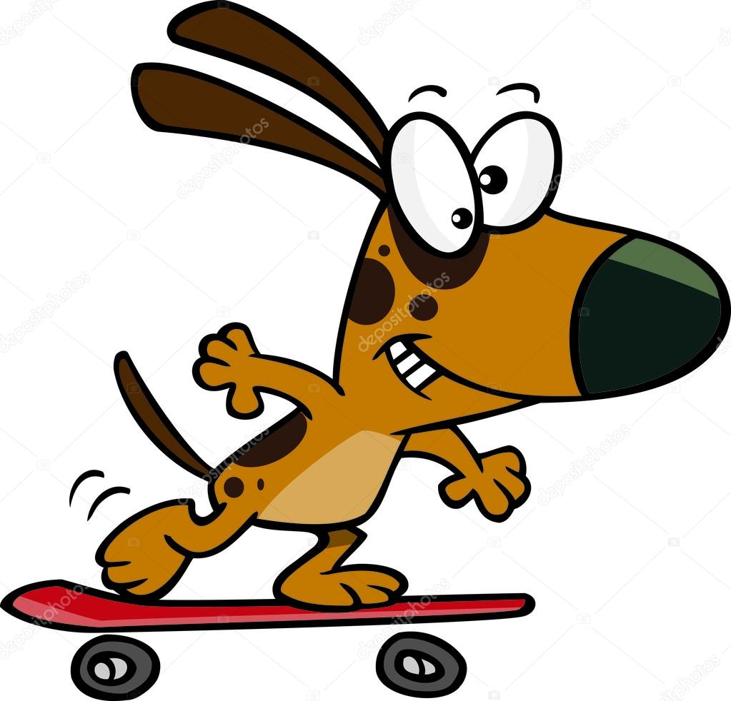 Skateboard de chien dessin anim image vectorielle ronleishman 14000350 - Dessin skateboard ...