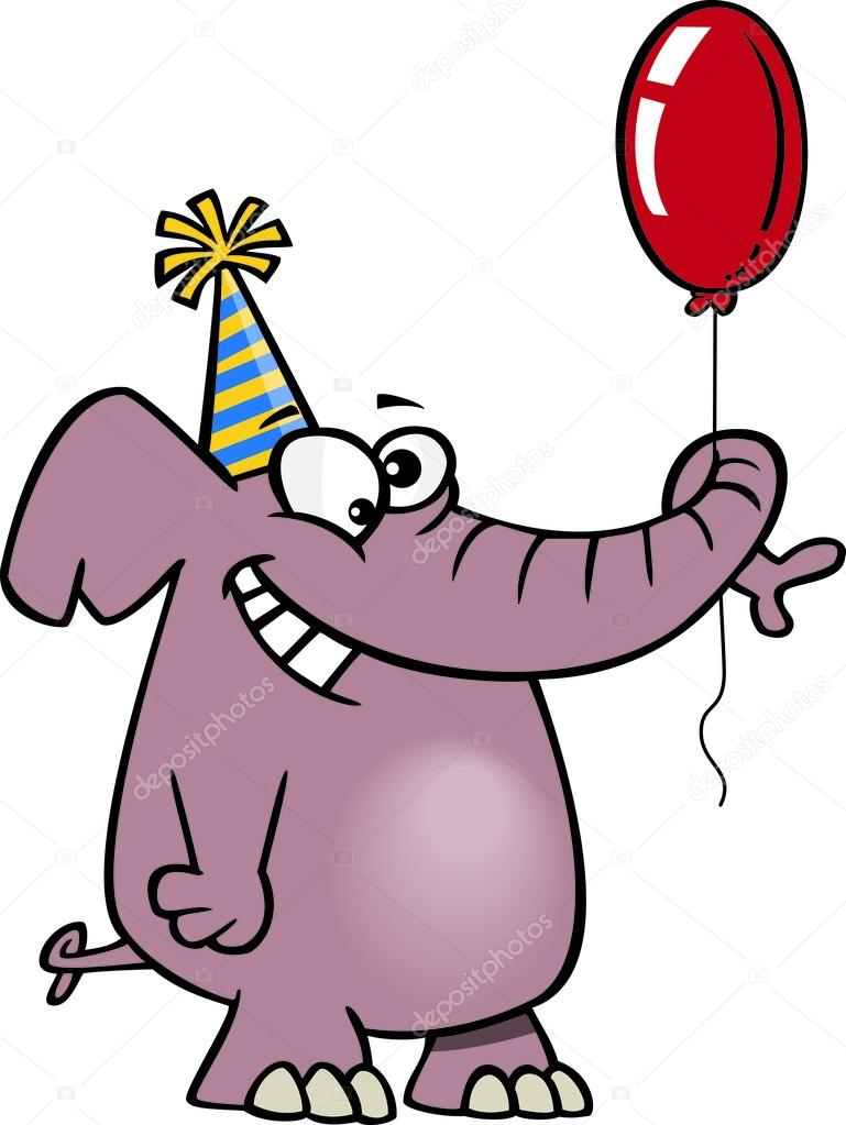 Happy Elephant Clip Art Clipart happy birthday