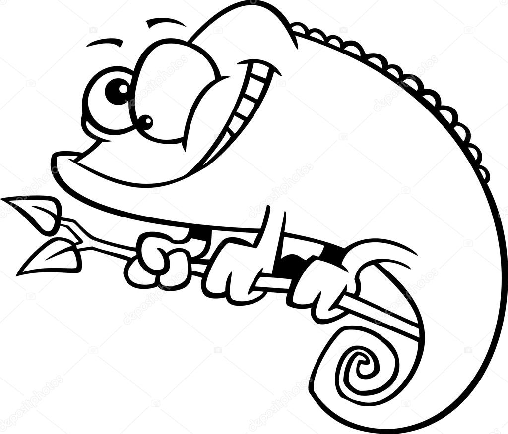 cartoon lizard coloring pages - photo#34