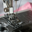 Detail of sewing machine and sewing accessories. — Stock Photo