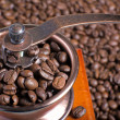 Foto Stock: Coffee in coffee grinder