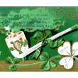 Vintage card with St Patrick's Day poem — Stock Photo #12428128