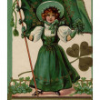 Irish poem printed on vintage card with illustration of — Stock Photo #12429581