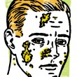 An illustration of an infected man — Stock Photo