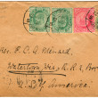 Vintage envelopes with stamps — 图库照片