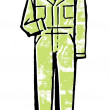 Stock Photo: Green jumpsuit