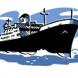 Stock Photo: A vintage illustration of a ship