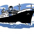 A vintage illustration of a ship — Stock Photo