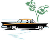 A vintage illustration of a classic car — Stock Photo