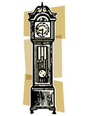 A vintage grandfather clock — Stock Photo
