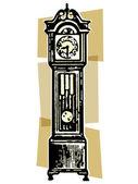 A vintage grandfather clock — Stock Photo