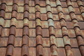 Clay tile roof texture and background — Stock Photo