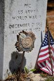 World War II soldier's grave — Stock Photo