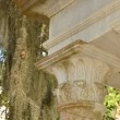 Greek style pillar and eave — Stock Photo