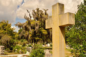 Cross Memorial at Bonaventure Cemetery — Stock Photo