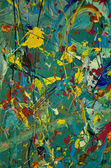 Canvas of abstract splatters — Stock Photo