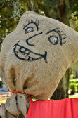 Burlap head — Stockfoto