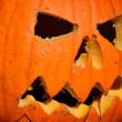 Traditionally carved jack-o-lantern — Stock Photo