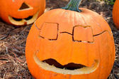 Cool pumpkin head — Stock Photo