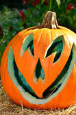 Blue lined jack-o-lantern — Stock Photo