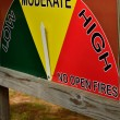 Fire risk at moderate indication — Stock Photo #14035407