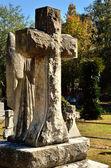 Memorial cross monument — Stock Photo