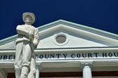 Konföderierte Soldaten Statue in hinesville — Stockfoto