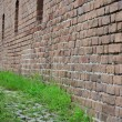 Path along a wall of Fort Clinch State Park — Stock Photo