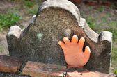 Een hand uit het graf — Stockfoto
