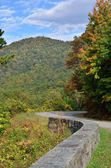 Blue Ridge Parkway Curves — Stock Photo