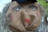 Burlap scarecrow — Stock Photo