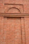 Inset red brick wall designs — Stock Photo