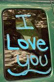 Tagged car window — Zdjęcie stockowe