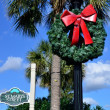 Christmas in downtown historic St. Marys Georgia — Stock Photo