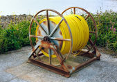 Large Hose Pipe Reel — Stock Photo