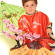 Cute child in chinese dress — Stock Photo