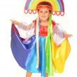 Cute child in colorful dress — Stock Photo