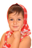 Cute child in russian dress — Stock Photo