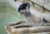 Detail of Gaia Fountain from Siena, Italy — Stock Photo