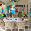 Stock Photo: Beautifully decorated room for birthday