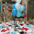Stock Photo: Holiday table decorated with balloons