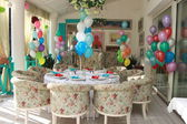 Beautifully decorated room for birthday — Stock Photo