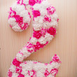 Stock Photo: Festive decoration forming 2 number