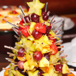 Stock Photo: Holiday fruits snacks